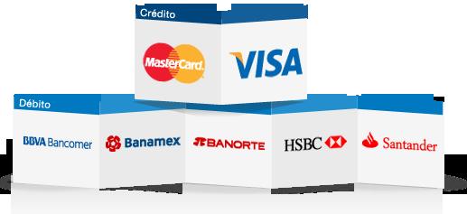 aceptamos tarjeta de débito o crédito